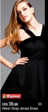 Velvet Strap Jersey Dress