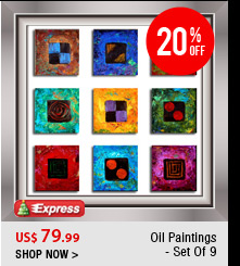 Oil Paintings- Set Of 9