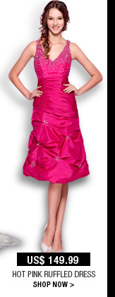 Hot Pink Ruffled Dress