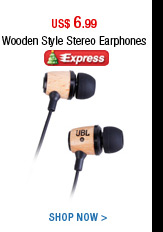 Wooden Style Stereo Earphones
