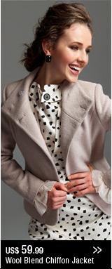 Wool Blend Chiffon Jacket
