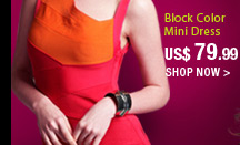 Block Color Mini Dress