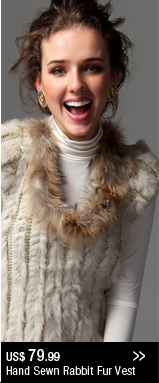 Hand Sewn Rabbit Fur Vest
