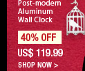 Post-modern Aluminum Wall Clock