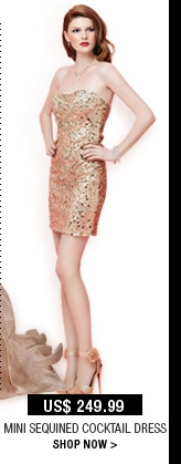 Mini Sequined Cocktail Dress