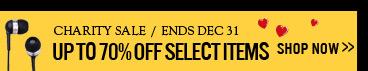 Charity Sale /ends dec 31