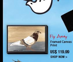 Fly away Framed canvas print