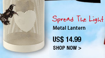 Spread The Light metal lantern