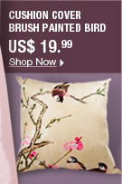 Cushion Cover brush painted bird
