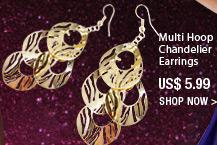 Multi Hoop Chandelier Earrings