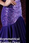 Asymmetrical Evening Dress