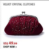 Velvet Crystal Clutches