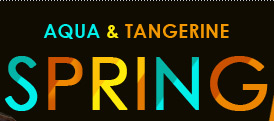 Aqua & Tangerine SPRING 2012 Inspired By LADY GAGA