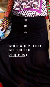 Mixed Pattern Blouse