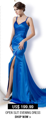 Open Slit Evening Dress