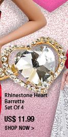 Rhinestone Heart Barrette