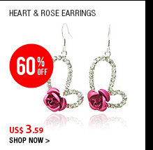 Heart & Rose Earrings
