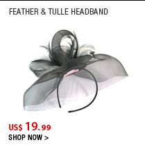 Feather & Tulle Headband