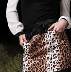 Lovely Bow Leopard Skirt