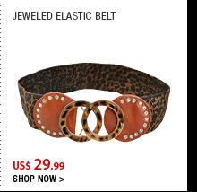 Jeweled Elastic Belt