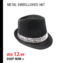 Metal Embellished Hat