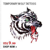 Temporary Wolf Tattoos