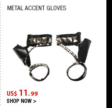 Metal Accent Gloves