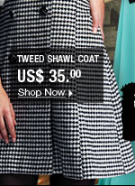Tweed Shawl Coat