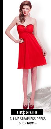 A-Line Strapless Dress