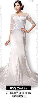 Mermaid V-Neck Dress