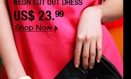 Neon Cut Out Dress