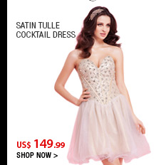 Satin Tulle Cocktail Dress