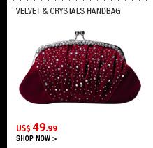 Velvet & Crystals Handbag