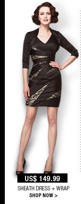 Sheath Dress + Wrap