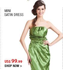Mini Satin Dress
