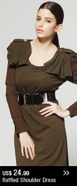 Ruffled Shoulder Dress