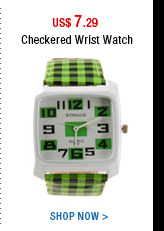 Checkered Wrist Watch