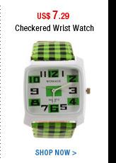 Checkered Wrist Watch