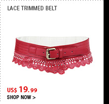 Lace Trimmed Belt