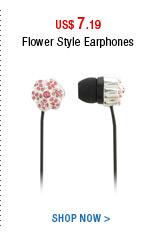Flower Style Earphones