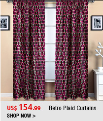 Retro Plaid Curtains