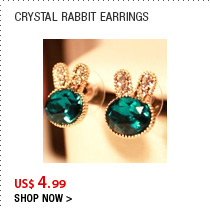 Crystal Rabbit Earrings