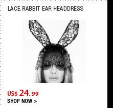Lace Rabbit Ear Headdress