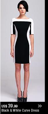 Black & White Curve Dress