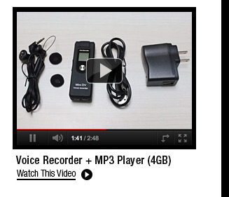 Voice Recorder + MP3 Player (4GB)