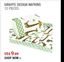 Giraffe Design Napkins