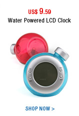 Water Powered LCD Clock