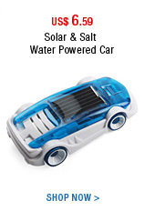 Solar & Salt Water Powered Car