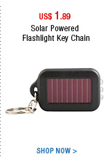 Solar Powered Flashlight Key Chain