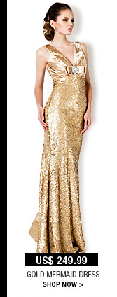 Gold Mermaid Dress